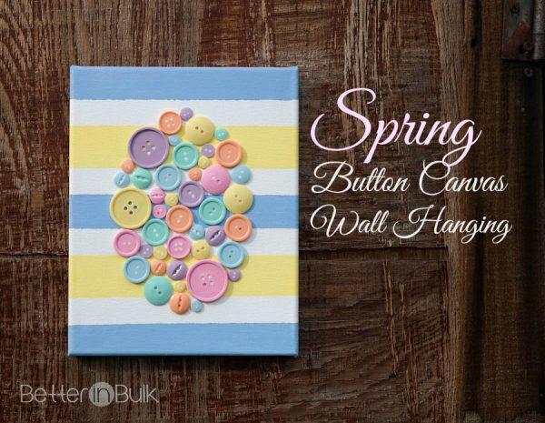 Spring Easter Egg Button Canvas