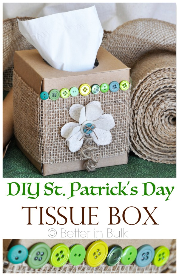 DIY St Patrick's Day Tissue Box Make-Over Craft