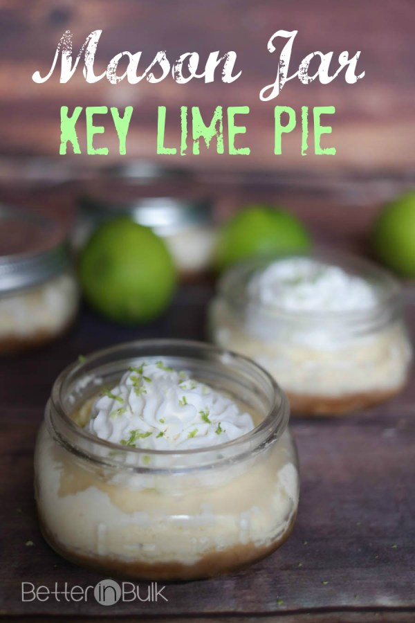 Mason jar key lime pies. All the goodness of a key lime pie in a single-serving presentation. These mini pies are perfect for parties!e