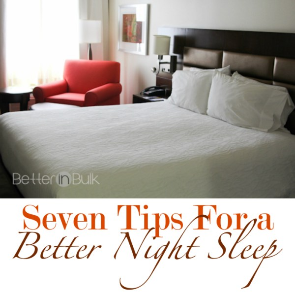 7 tips for a better night sleep