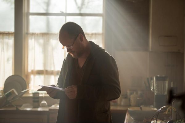 Joss Whedon on the set of Avengers: Age of Ultron {Photo credit: Marvel}