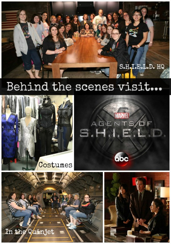 Behind the scenes set visit on Agents of S.H.I.E.L.D.