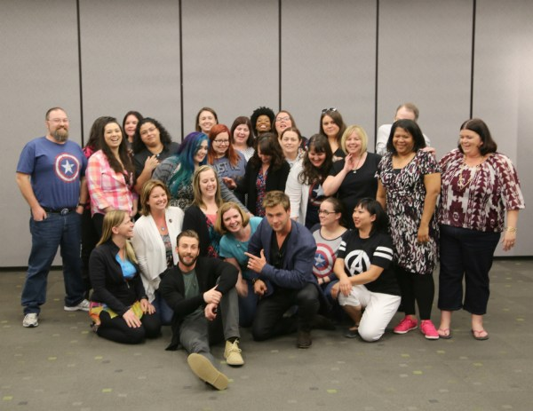 Chris and Chris funny group shot #AvengersEvent Avengers: Age of Ultron