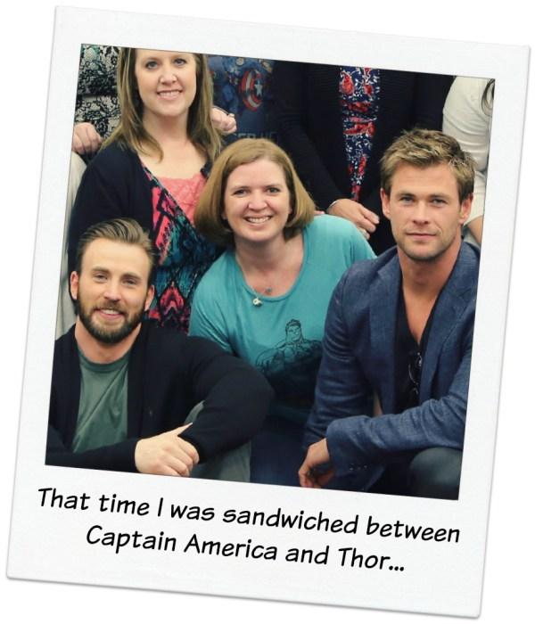 Chris and Chris sandwich #AvengersEvent