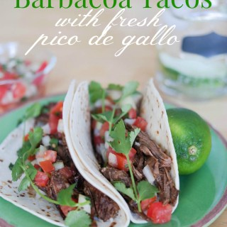 Crockpot Barbacoa Tacos With Fresh Pico de Gallo