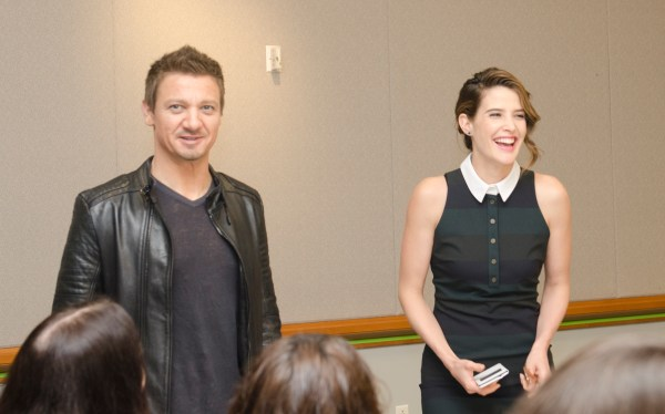 Jeremy Renner and Cobie Smulders interview Avengers Age of Ultron #AvengersEvent