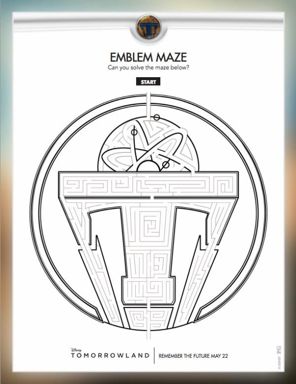 Tomorrowland Maze Printable