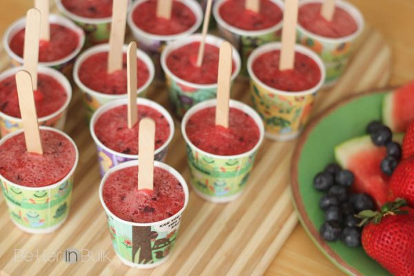 watermelon strawberry blueberry popsicles