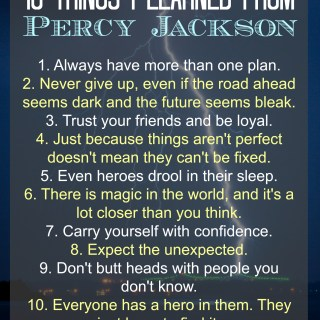 10 Things I Learned From Percy Jackson Poster