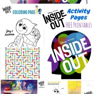 Disney Pixar Inside Out Activity Pages
