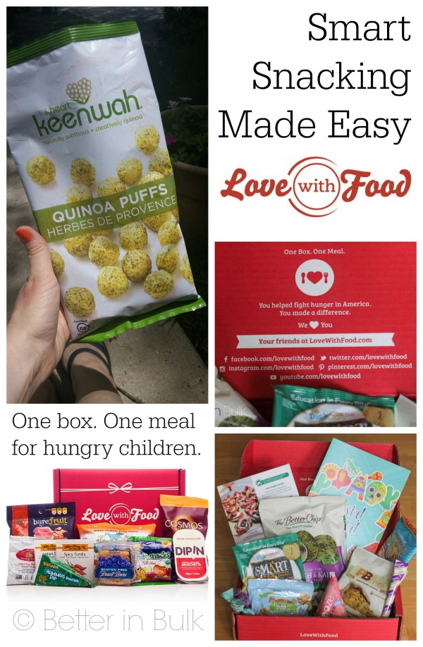 Love with Food Smart Snacking Made Easy