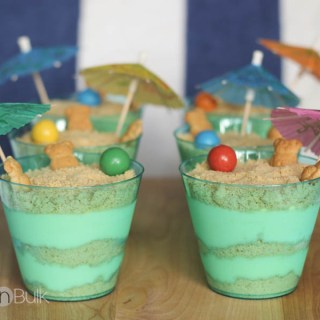 Sand Pudding Recipe - Vanilla Oreos and vanilla pudding with a beach twist!