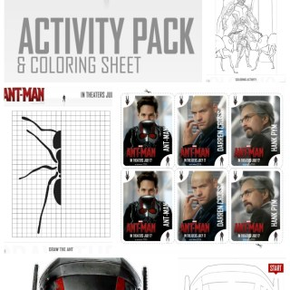 Marvel's Antman Activity Sheets and Coloring Pages