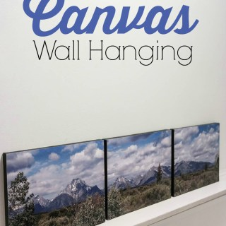 DIY Panoramic Canvas Wall Hanging Craft
