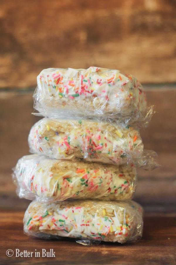 Crispy Treat Ice Cream Sandwiches