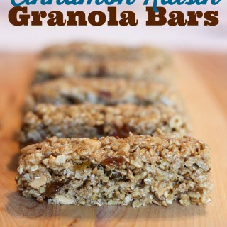 Chewy Cinnamon Raisin Granola Bars