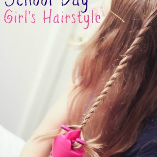 Fun and Easy School Day Girl's Hairstyle #QuickTwist