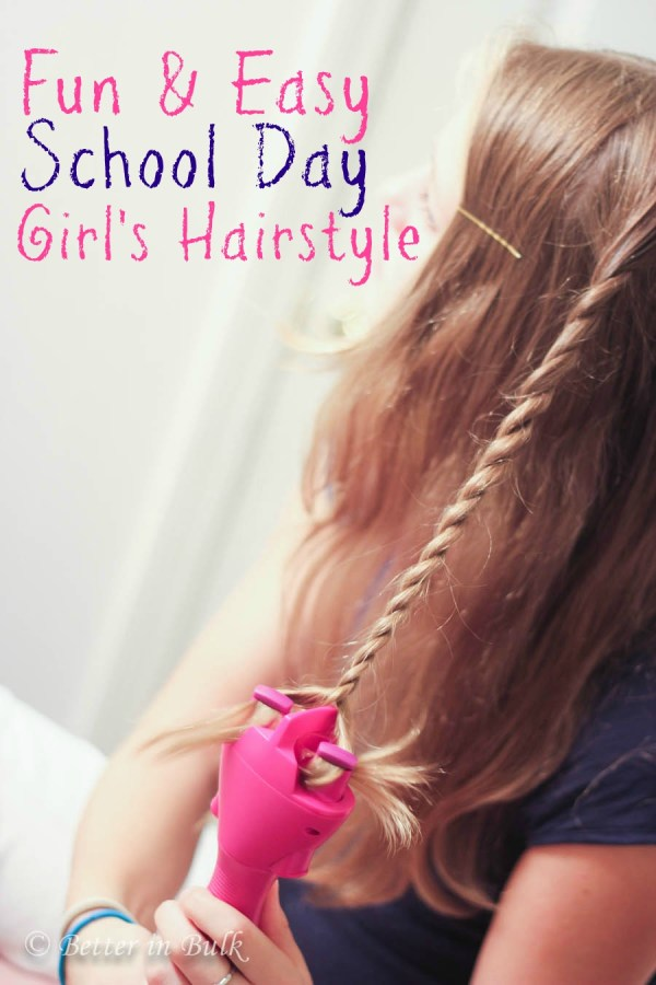 Conair quick twist fun and easy school day girl's hairstyle