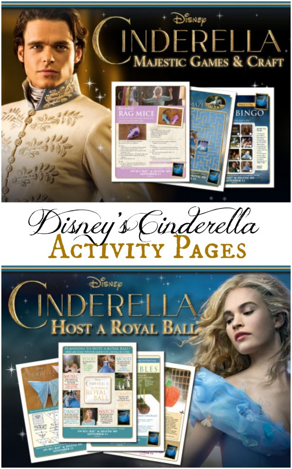 Disney's Cinderella Activity Pages and Games from Better in Bulk