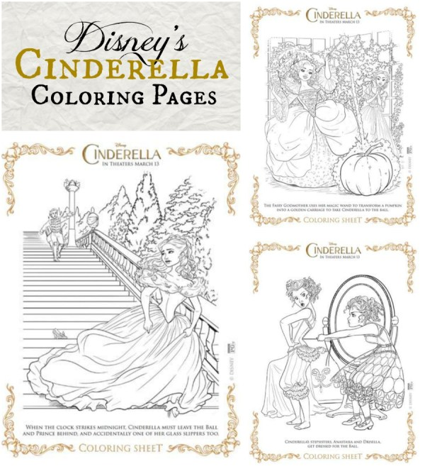 Disney's Cinderella Coloring Pages at Better in Bulk