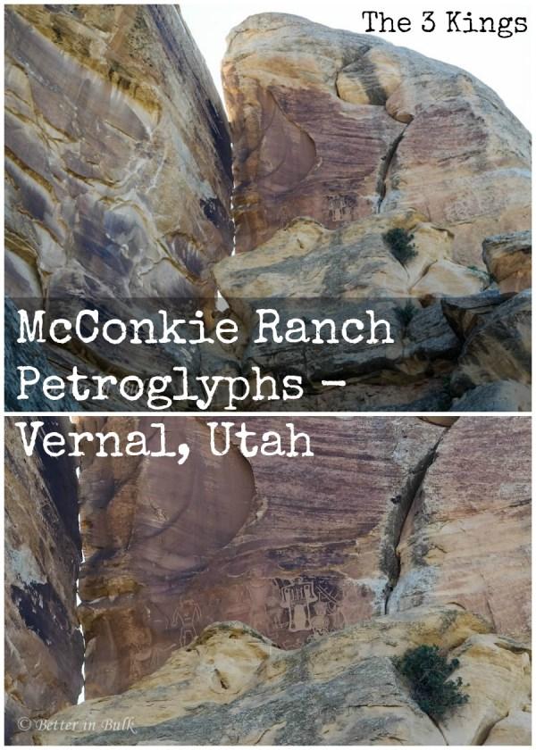 McConkie Ranch Petroglyphs - Vernal, Utah 3 kings