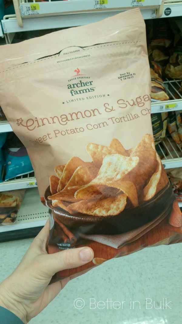 Cinnamon and sugar chips from Target