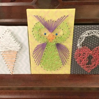 FInished string art kit projects.