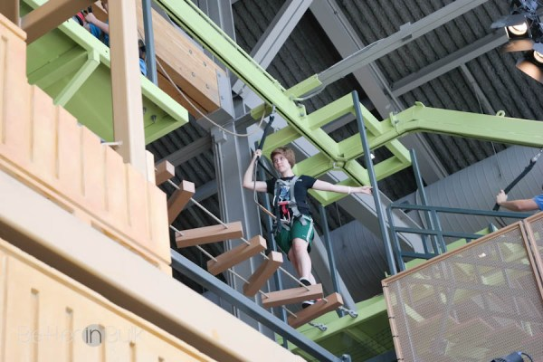 High ropes course at the Museum of Natural Curiosity