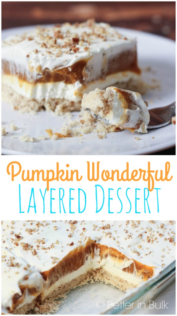 Pumpkin Wonderful layered dessert by Food Fun Family - a traditional Thanksgiving dish