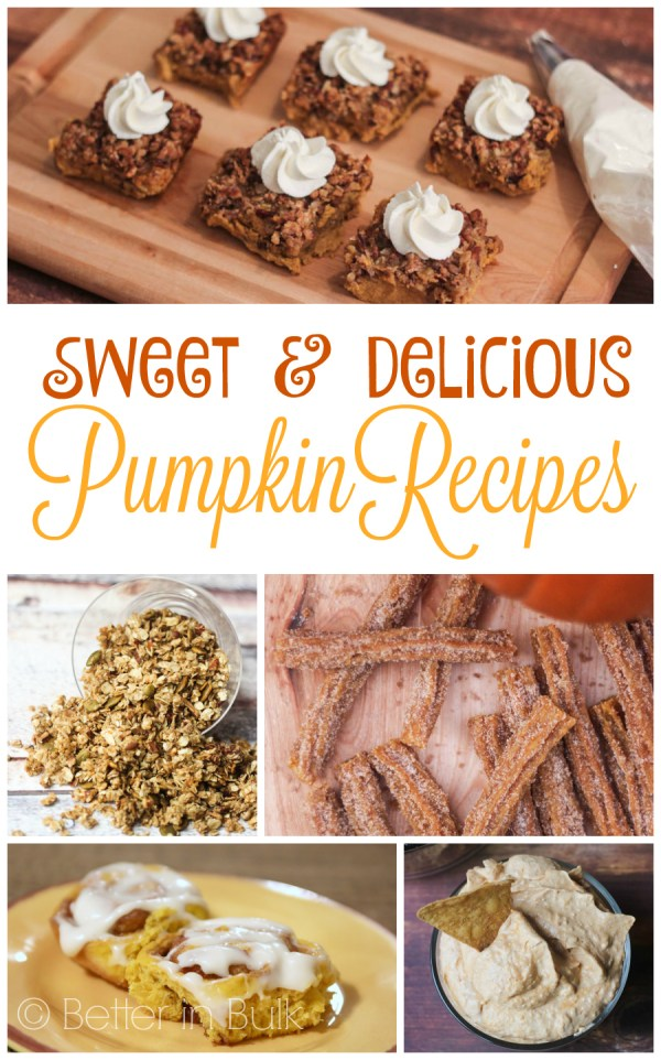 Sweet and Delicious Pumpkin Recipes from Better in Bulk
