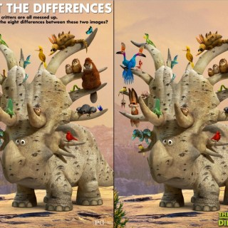 The Good Dinosaur spot the difference