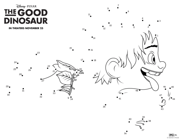 the good dinosaur connect the dots