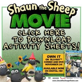 Shaun the Sheep Activity Sheets