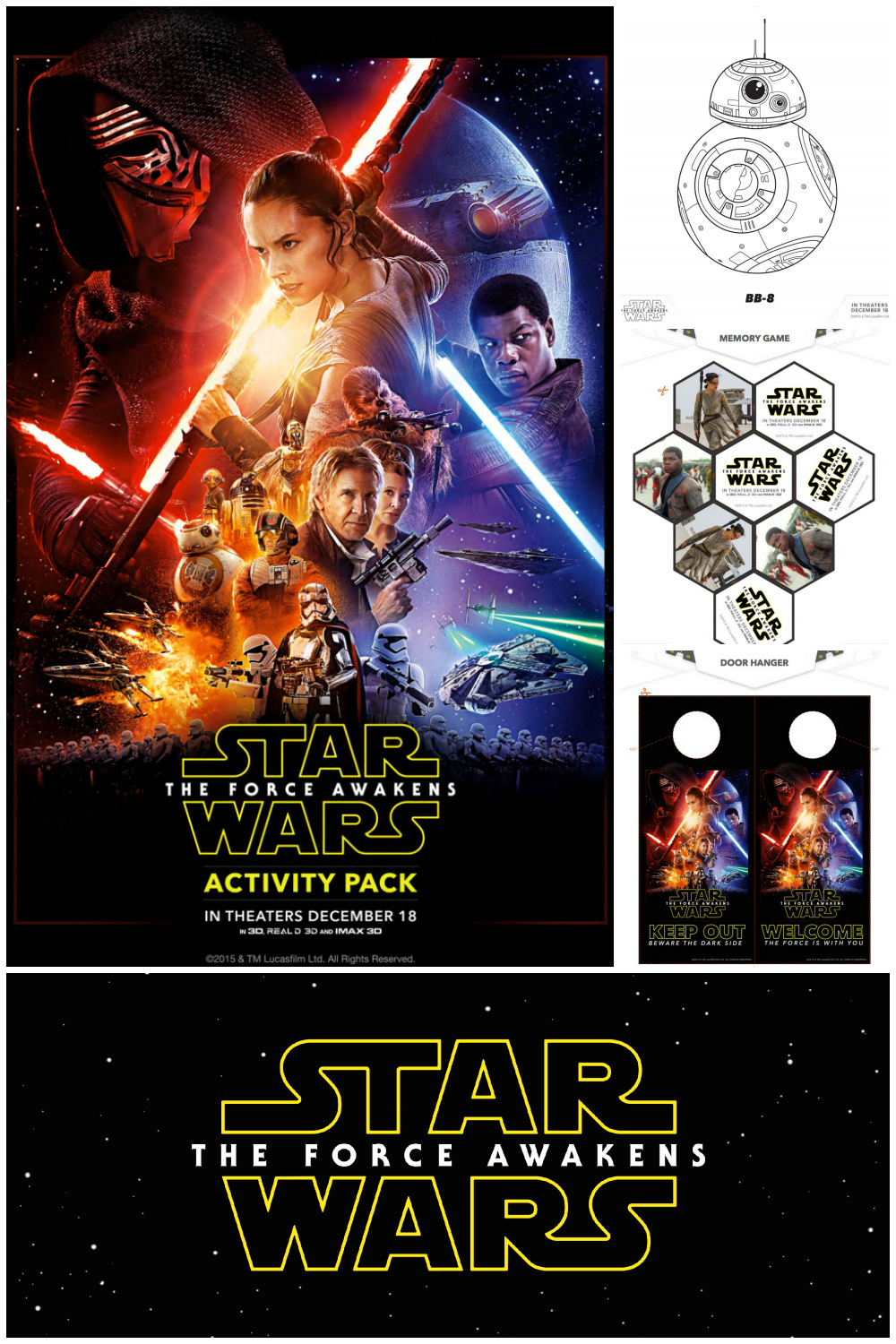 Star Wars The Force Awakens Activity Pack - games coloring pages and more