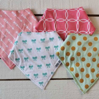 Bamboo Button girls baby bandanas