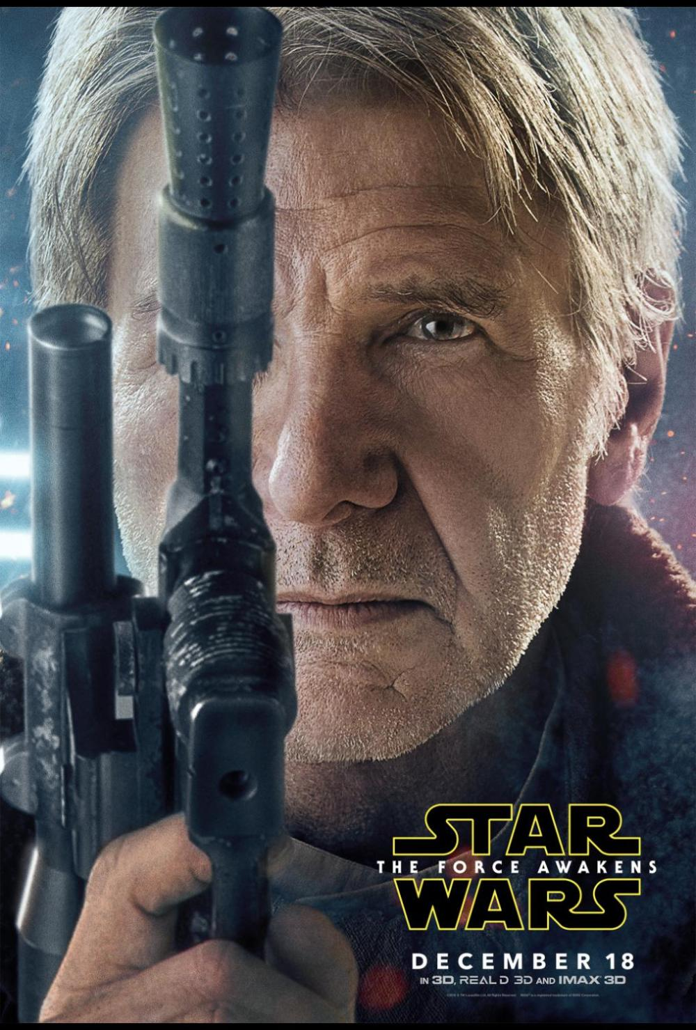 Star Wars: The Force Awakens movie review - han solo poster