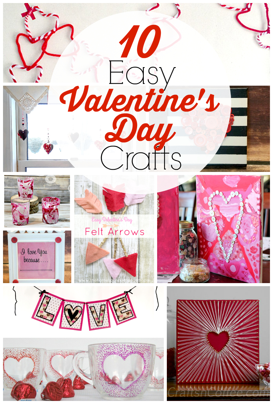 Looking for some easy DIY craft projects for Valentine's Day? You will love these 10 Easy Valentine's Day Crafts for Adults (No talent required!)