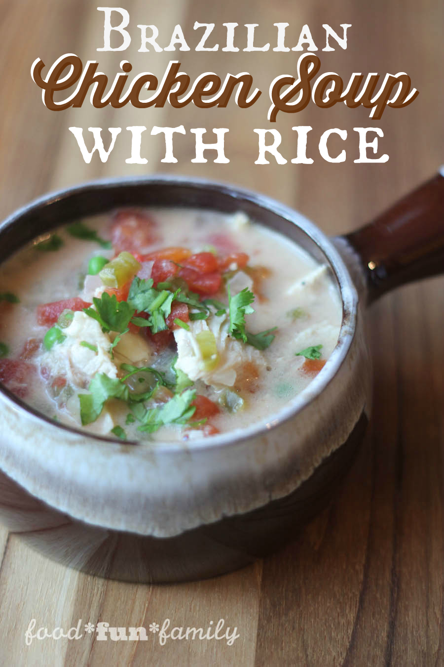 Brazilian Chicken Soup With Rice Recipe from Food Fun Family