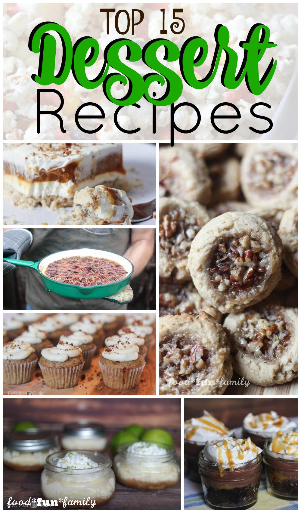 Top 15 Dessert Recipes of 2015 from Food Fun Family
