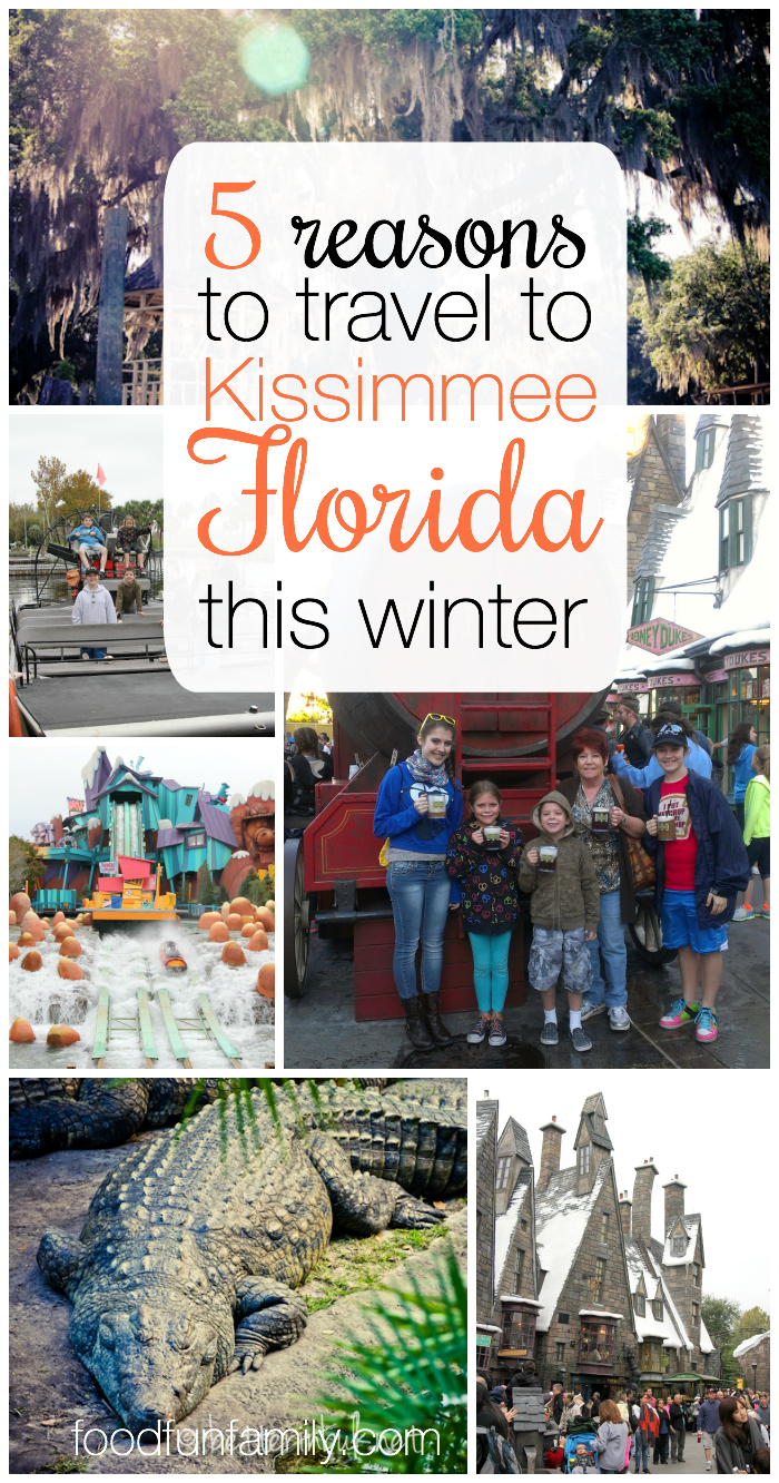 5 Reasons to Travel to Kissimmee Florida this winter - sunshine, adventure, and family fun - it really is the perfect place for a family vacation!