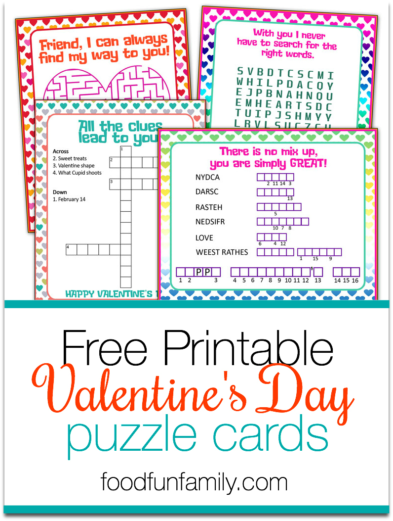 Looking for some fun activities for the kids this Valentine's Day or a great printable for your kid's class party? Check out these FREE printable Valentine's Day puzzle cards!