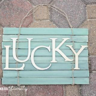 St. Patrick's Day Lucky Rustic Wall Hanging: A Paint Stick Craft