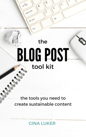 Blog Post Tool Kit by Gina Luke - Buy Now
