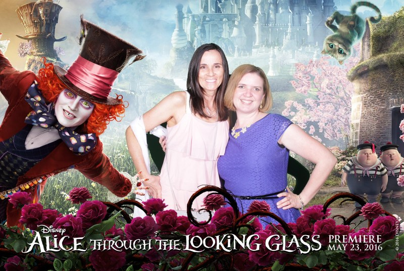 Laura from Food Fun Family and Keri Lyn from She Saves at the Alice Through the Looking Glass after party