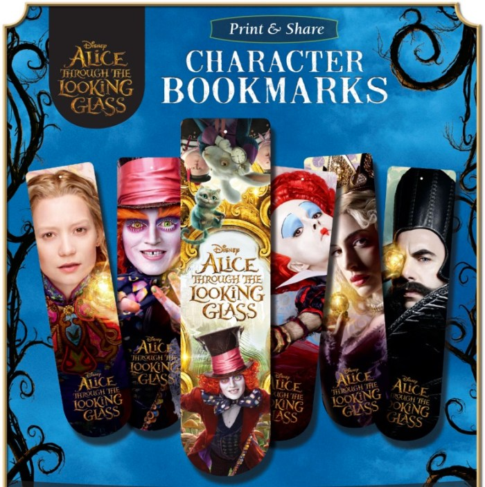 Alice Through The Looking Glass Bookmarks