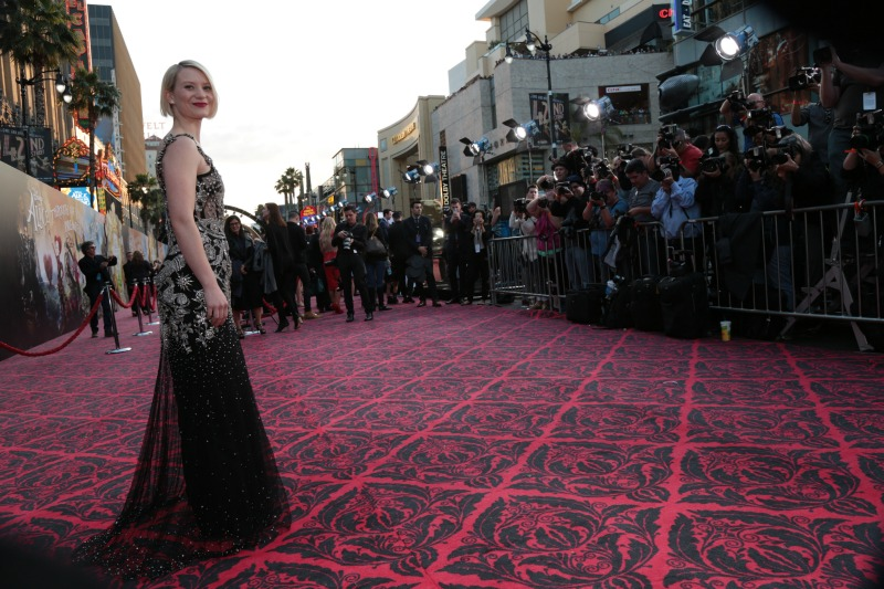 Mia Wasikowska (Alice ) at the Alice Through the Looking Glass Red Carpet