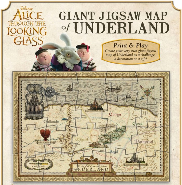 Alice Through The Looking Glass Giant Jigsaw Map of Underland