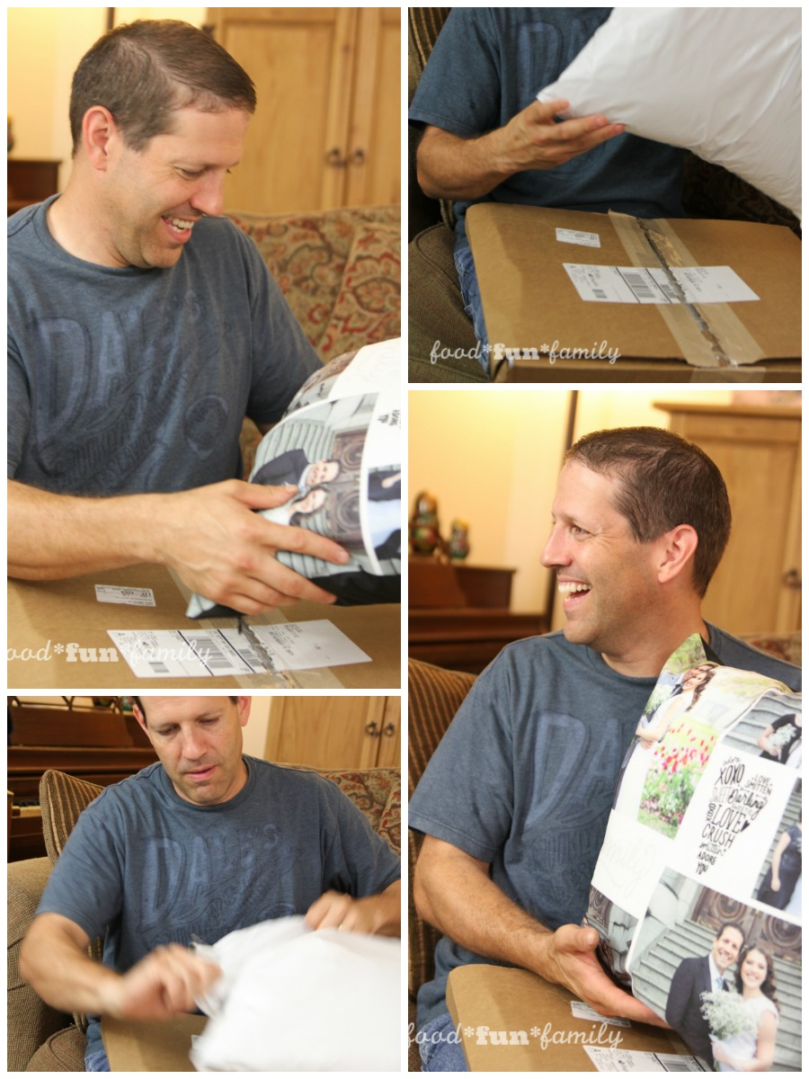 5 Fun Ideas for Personalized Father's Day Gifts - opening the pillow