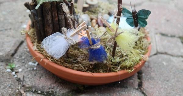 Gnome In Garden: DIY Miniature Fairy Garden