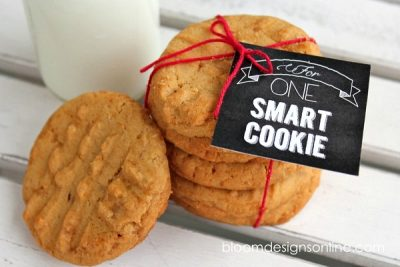 Peanut Butter Toffee Cookies and Printable from Bloom Designs